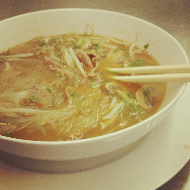 Sometimes I crave bean noodles and too many bean sprouts. #Soulisas #pho